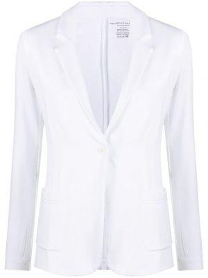 Однобортный белый классический пиджак на пуговицах Majestic Filatures
