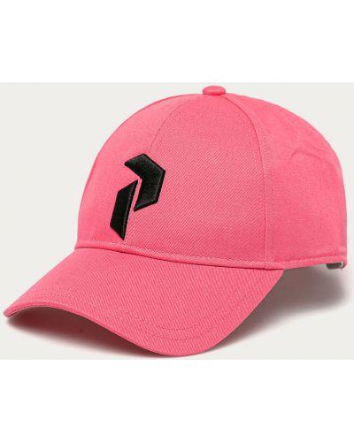 Różowy kapelusz bawełniany Peak Performance