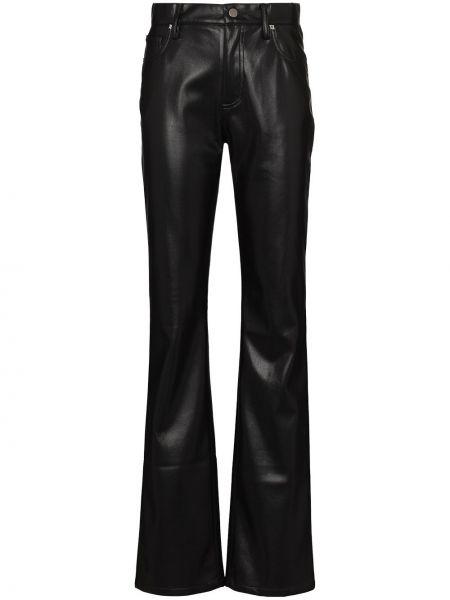 Spodni czarny z wysokim stanem skórzany spodnie Misbhv