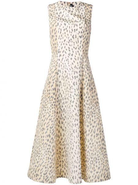 Расклешенное приталенное шелковое платье миди без рукавов Calvin Klein 205w39nyc