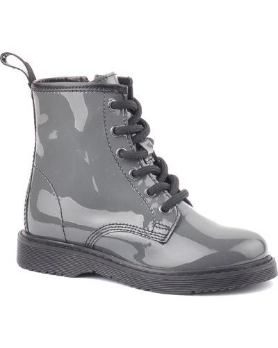 Ботинки лаковые серые Cult