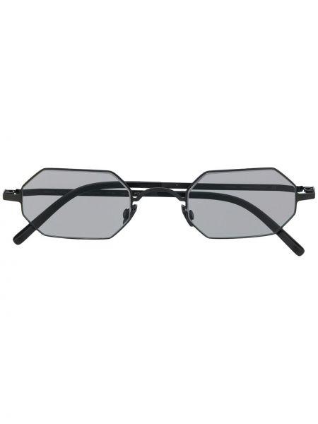 Прямые черные солнцезащитные очки металлические Mykita