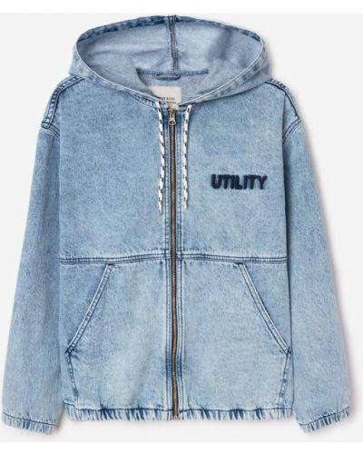 Свободная джинсовая куртка с капюшоном оверсайз Gloria Jeans
