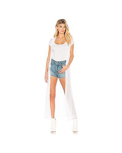 Белый свитер сетчатый La Made