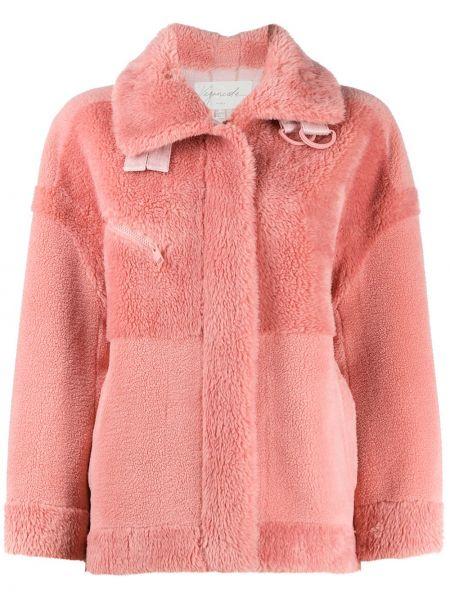 С рукавами розовая длинная куртка Urbancode