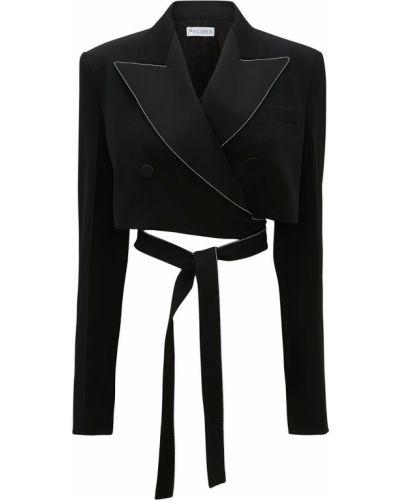Шерстяная черная куртка Jw Anderson