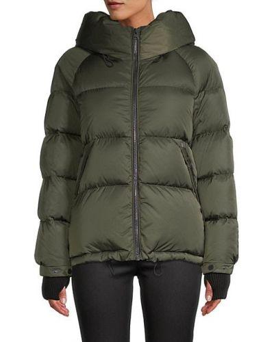 Пуховая длинная куртка с капюшоном с манжетами Soia & Kyo