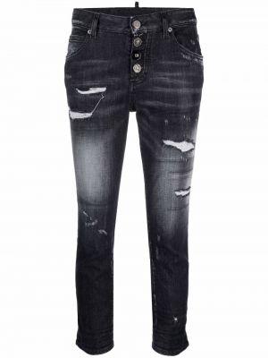 Черные джинсы с карманами Dsquared2