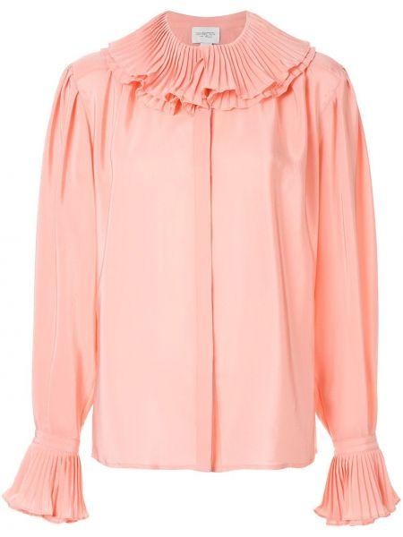 Шелковая блузка - розовая Giambattista Valli