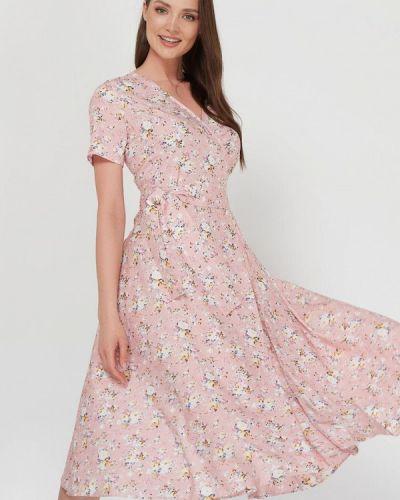 Розовое платье с запахом A.karina