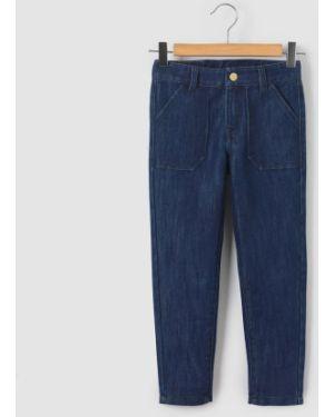 Синие джинсы с поясом La Redoute Collections