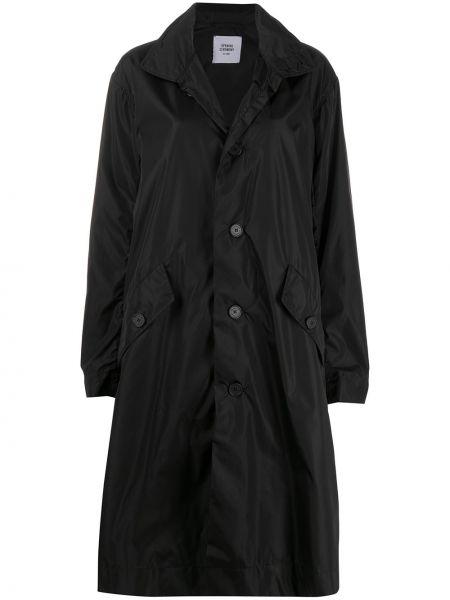 Czarny płaszcz zapinane na guziki Opening Ceremony