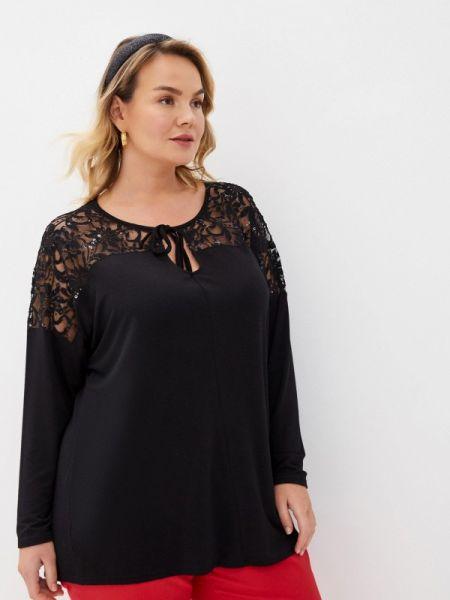 Блузка черная весенний Evans