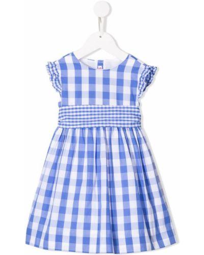 Платье с рукавами синий Amaia