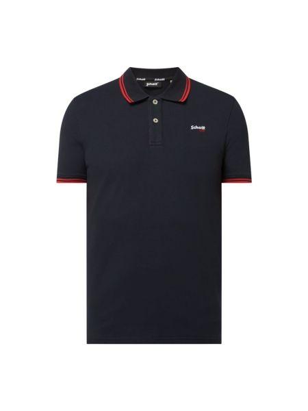 T-shirt bawełniana - niebieska Schott Nyc
