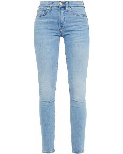 Хлопковые синие зауженные джинсы-скинни Veronica Beard