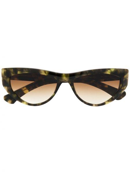 Прямые муслиновые солнцезащитные очки хаки Christian Roth