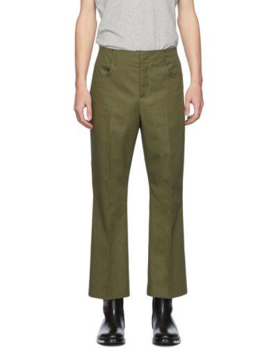 Bawełna bawełna spodni przycięte spodnie z kieszeniami Acne Studios