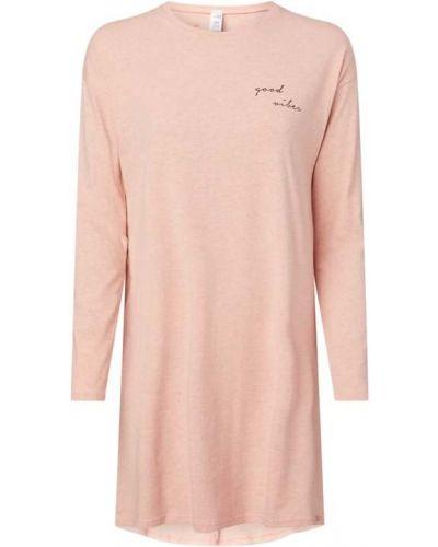 Koszula nocna bawełniana - różowa Skiny