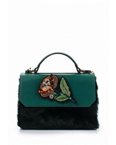 Кожаный сумка с мехом Aldo