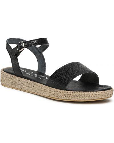 Sandały espadryle - czarne Ryłko