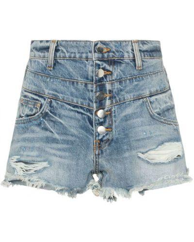 Джинсовые шорты с карманами со стразами на пуговицах Amiri