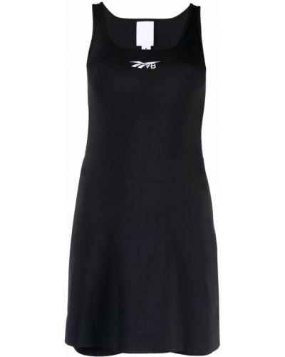 Черное платье с принтом Reebok X Victoria Beckham
