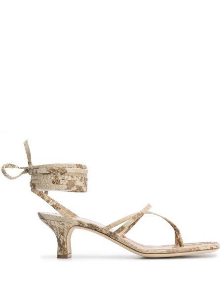Sandały skórzany beżowy Paris Texas