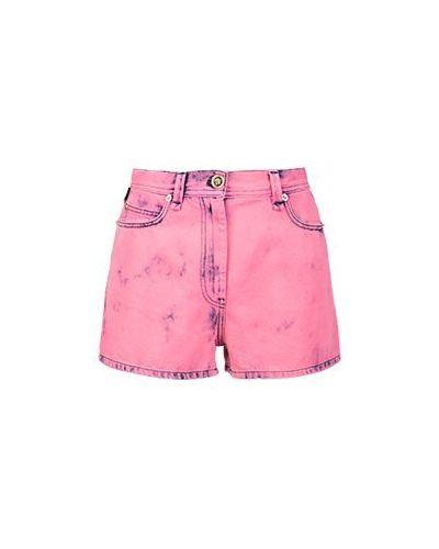 Джинсовые шорты розовый Versace