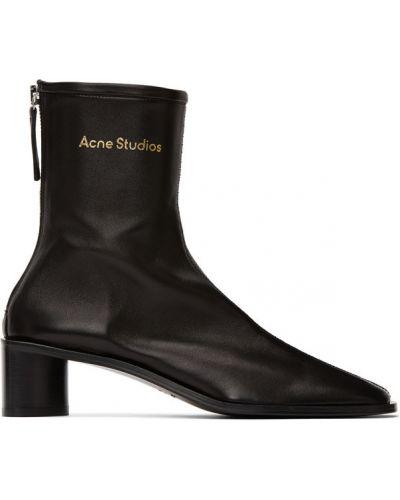 Przeciwtrądzikowy włókienniczy czarny buty na trądzik Acne Studios