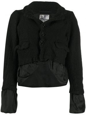 Шерстяная с рукавами черная куртка на пуговицах Comme Des Garçons Noir Kei Ninomiya