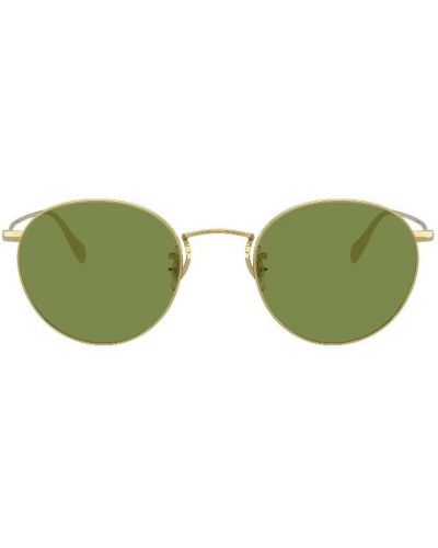 Zielone okulary Oliver Peoples