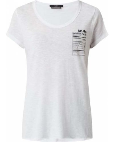 Biały t-shirt bawełniany z printem Set