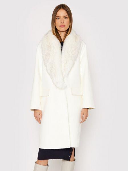Płaszcz wełniany - biały Liu Jo