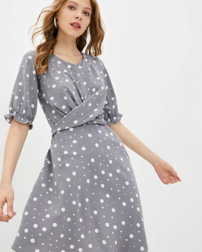 Серое платье а-силуэта Pinkkarrot