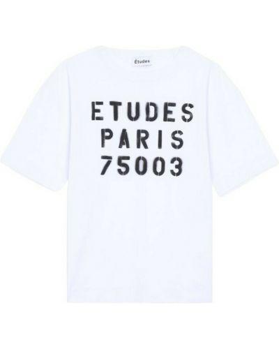 Biała t-shirt Etudes