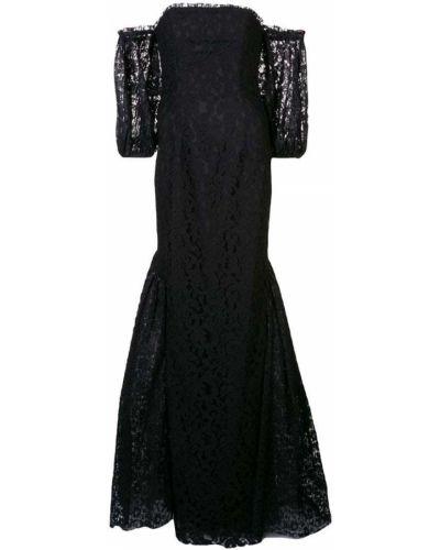 Вечернее платье с открытыми плечами - черное Zac Zac Posen