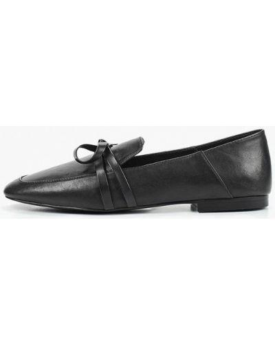 Сабо кожаные черные Violeta By Mango
