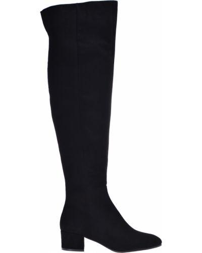 Черные кожаные ботфорты Sofia Baldi