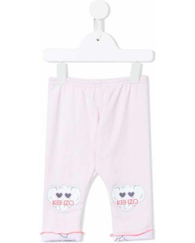 Różowe spodnie bawełniane Kenzo Kids