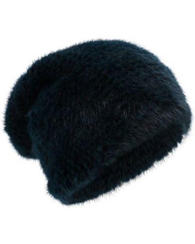 Зеленая шапка норковая Kussenkovv