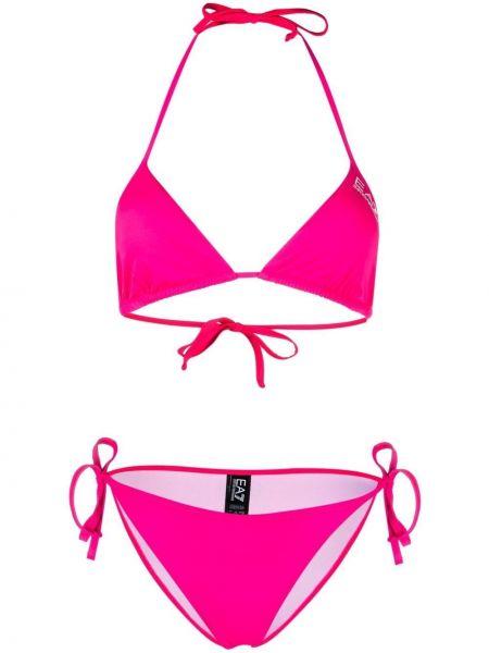 Розовые пляжные бикини с чашками Ea7 Emporio Armani
