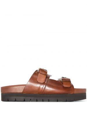 Кожаные сандалии - коричневые Grenson