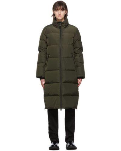 Стеганое пуховое черное длинное пальто Mackage