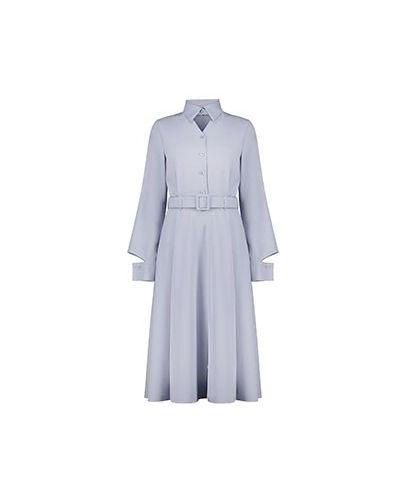 Вечернее платье из вискозы - голубое Poustovit