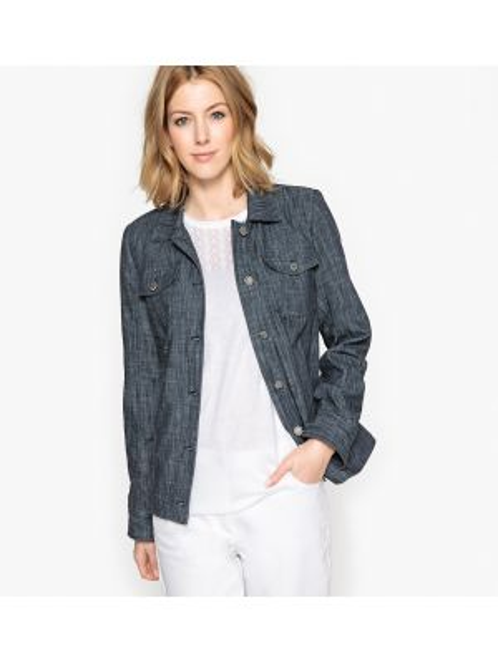 Джинсовая куртка укороченная прямая Anne Weyburn