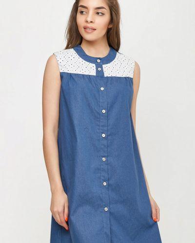 Джинсовое платье весеннее синее Sfn