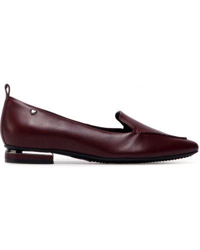 Туфли на каблуке - бордовые Sergio Bardi