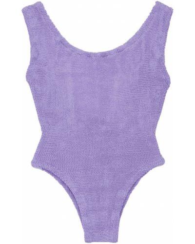 С ремешком фиолетовый слитный купальник на бретелях Hunza G
