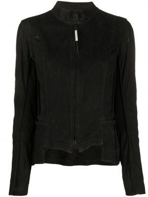 Черная кожаная куртка с воротником Isaac Sellam Experience